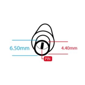 PRZEWÓD DO ZASILACZA O WTYKU 6.5x1.4x4.4mm - Przewody do zasilaczy