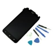 WYŚWIETLACZ Z DIGITIZEREM HTC ONE X S720E Z NARZĘDZIAMI I RAMKĄ CZARNY - Wyświetlacze z digitizerami do telefonów