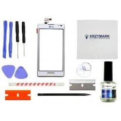 DIGITIZER DOTYK EKRAN SZYBKA LG OPTIMUS SWIFT L9 P760 Z ZESTAWEM NAPRAWCZYM - Digitizery do telefonów