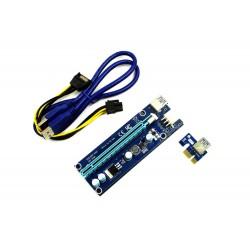 TAŚMA RISER SATA 006C PCI-E 16x 6 PIN USB 3.0 - Pozostałe części do laptopów