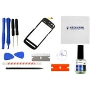 DIGITIZER NOKIA 5800 5800 XPRESSMUSIC 5800 XM CZARNY Z ZESTAWEM NAPRAWCZYM - Digitizery do telefonów