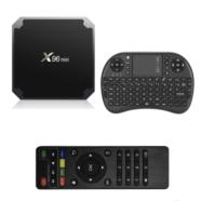 SMART TV BOX X96 MINI 4K UHD 1/8GB ANDROID 7.1.2 Z MINI KLAWIATURĄ CZARNY - Przystawki Smart TV