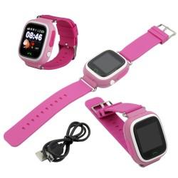 SMARTWATCH DLA DZIECI Q90 RÓŻOWY Z GPS - Smartwatche