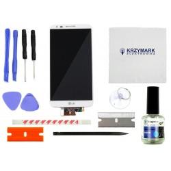WYŚWIETLACZ Z DIGITIZEREM FULL SET LG G2 D802 D805 Z ZESTAWEM NAPRAWCZYM - Wyświetlacze z digitizerami do telefonów