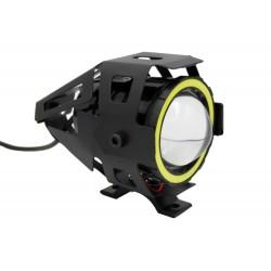 LAMPA MOTOCYKLOWA REFLEKTOR LED CREE U7 CZERWONY RING