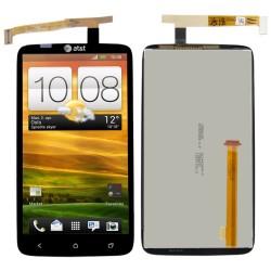 WYŚWIETLACZ I DIGITIZER HTC ONE X S720E CZARNY LOGO AT&T FULL SET