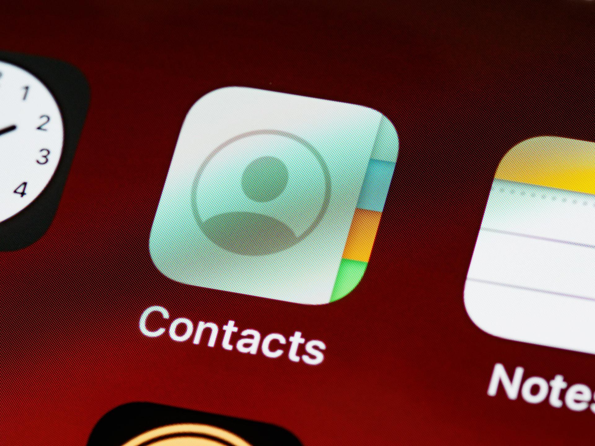 Ikona kontaktów z systemu iOS