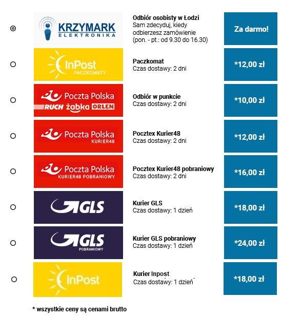 Krzymark.pl - Dostawa - cennik - szybka dostawa 24h