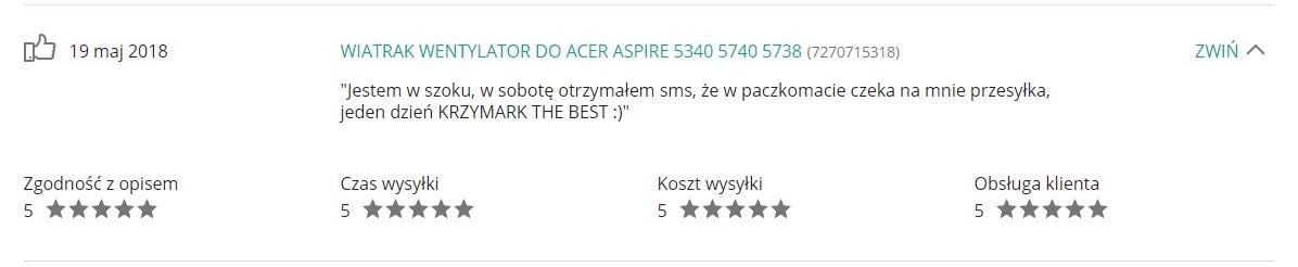 Opinie Krzymark Elektronika szybka dostawa 35